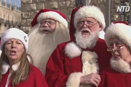 Санта-Клаусы наводнили Иерусалим на Рождество