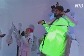 Концерты на инструментах изо льда проводят на итальянском леднике в иглу
