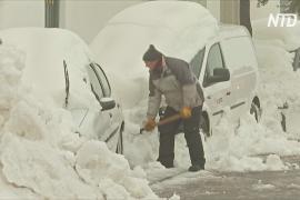 Шторм «Глория» принёс на восток Испании небывалые снегопады