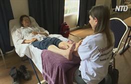 Австралийским погорельцам делают бесплатный массаж