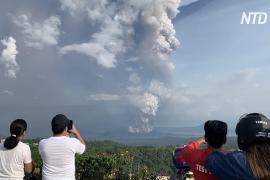 На Филиппинах 16 000 человек эвакуировались из-за вулкана Тааль