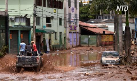 В Бразилии десятки людей гибнут в результате наводнений и оползней