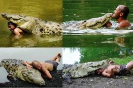 Крокодил, которого считали монстром, дружил с мужчиной 20 лет