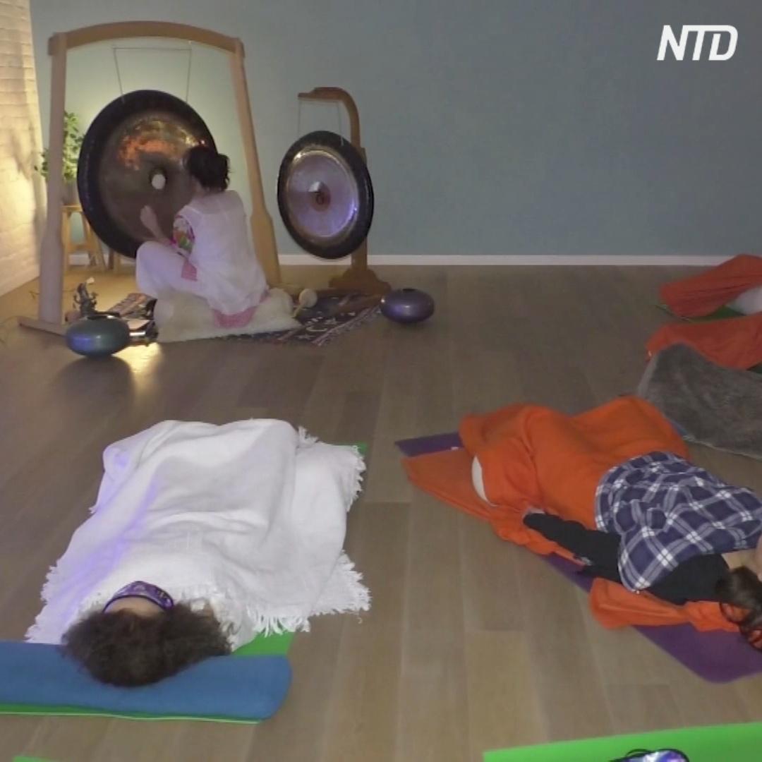 Медитация под гонг и орган: как в Брюсселе избавляются от стресса