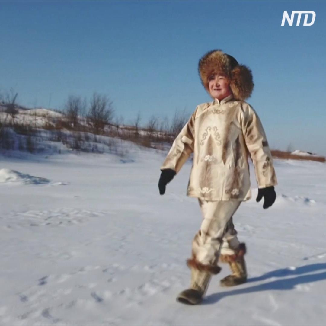 Как китайские нанайцы делают одежду из рыбьей кожи