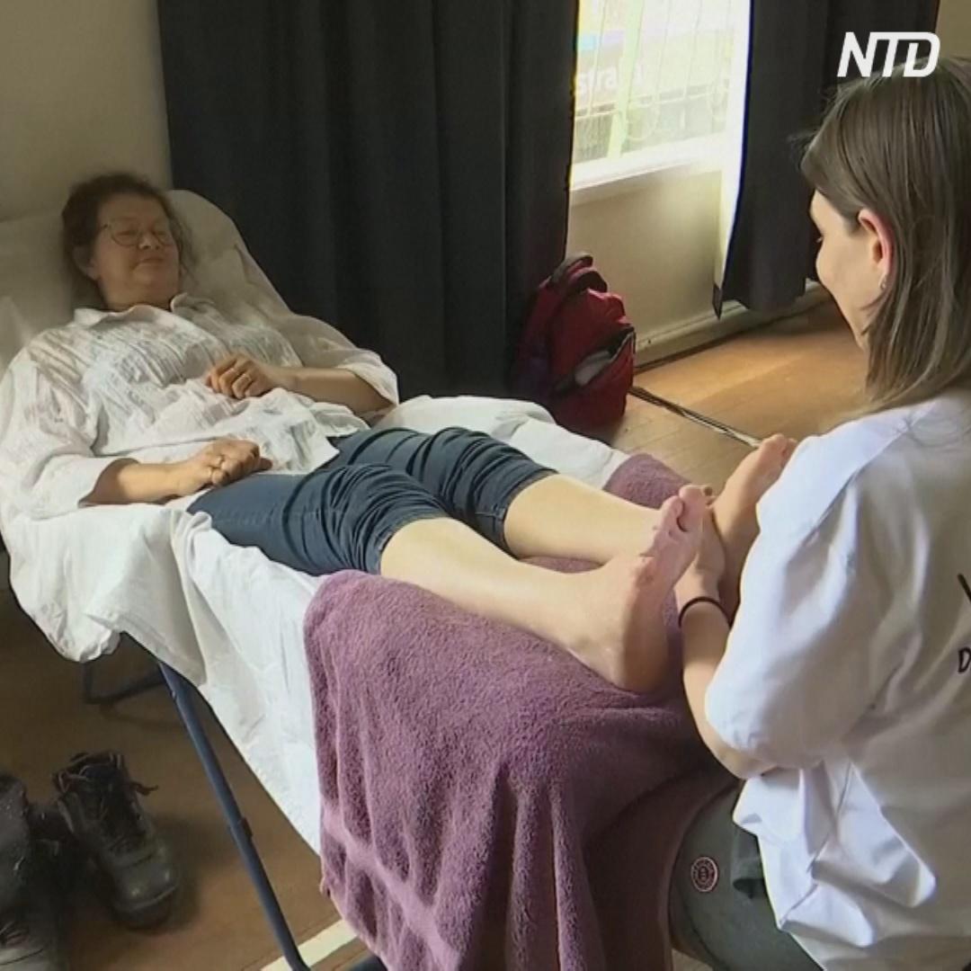 Бесплатный массаж помогает забыть о стрессе после пожаров в Австралии