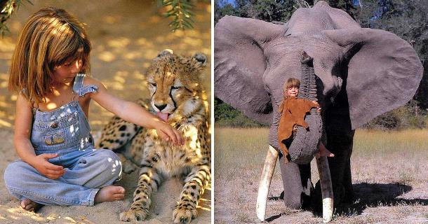 Девочка-Маугли жила в Африке до 10 лет. Фантастическое видео