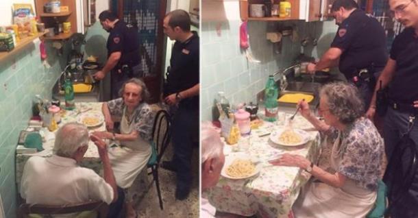 Полицейские прибыли по вызову и стали готовить еду