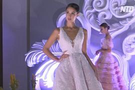 Восточные невесты приходят на свадебный салон в Дубае за вдохновением