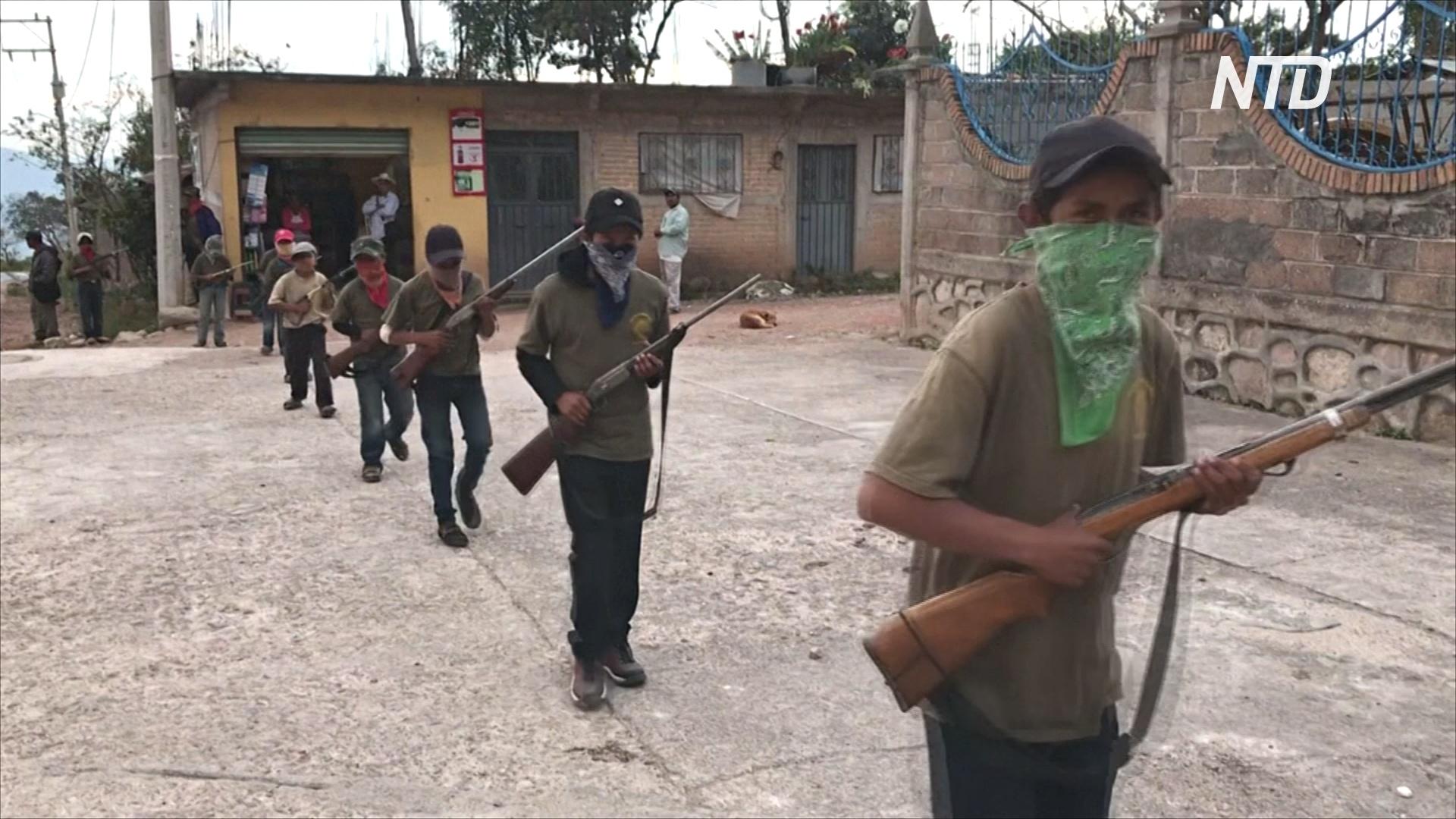 Мексиканский городок открыл военные курсы для детей