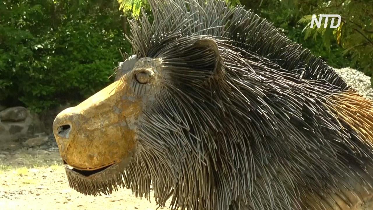 Кенийский скульптор превращает металлолом в произведения искусства