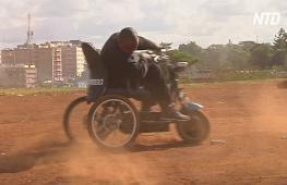 Кениец делает из вторсырья коляски-скутеры для инвалидов