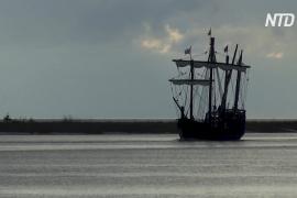 Копии кораблей Колумба отправились в путешествие по Миссисипи