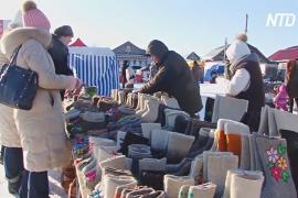 Фестиваль валенок проходит под Арзамасом
