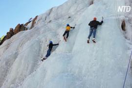 В индийском Ладакхе впервые прошёл фестиваль по ледолазанию