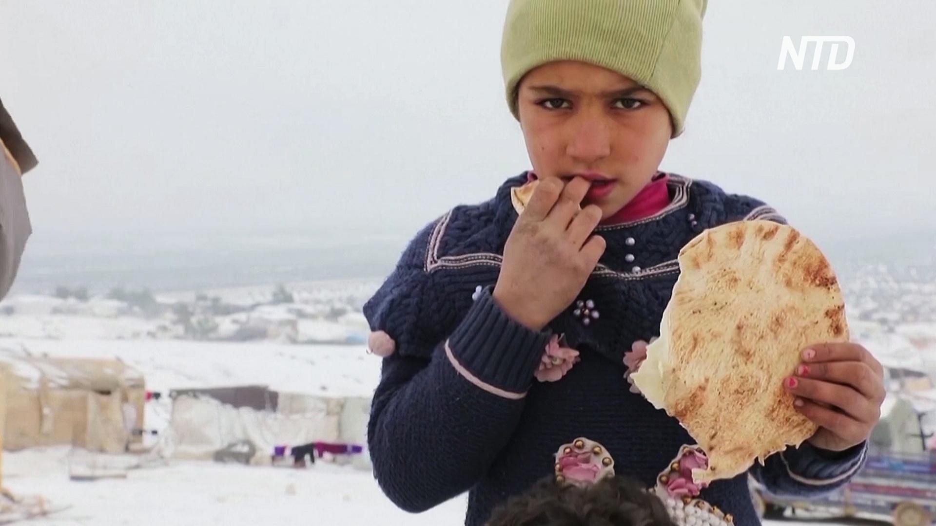 ООН: зимние холода угрожают сирийским переселенцам гуманитарной катастрофой