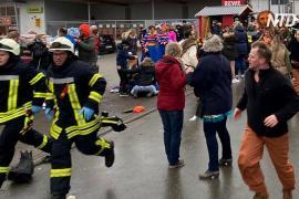 Десятки ранены после того, как автомобиль протаранил участников карнавала в Германии