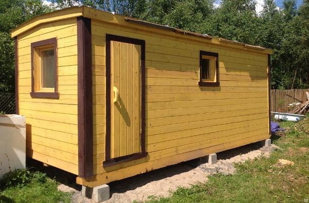Мобильная баня 2.4 х 8 метра с увеличенной комнатой отдыха