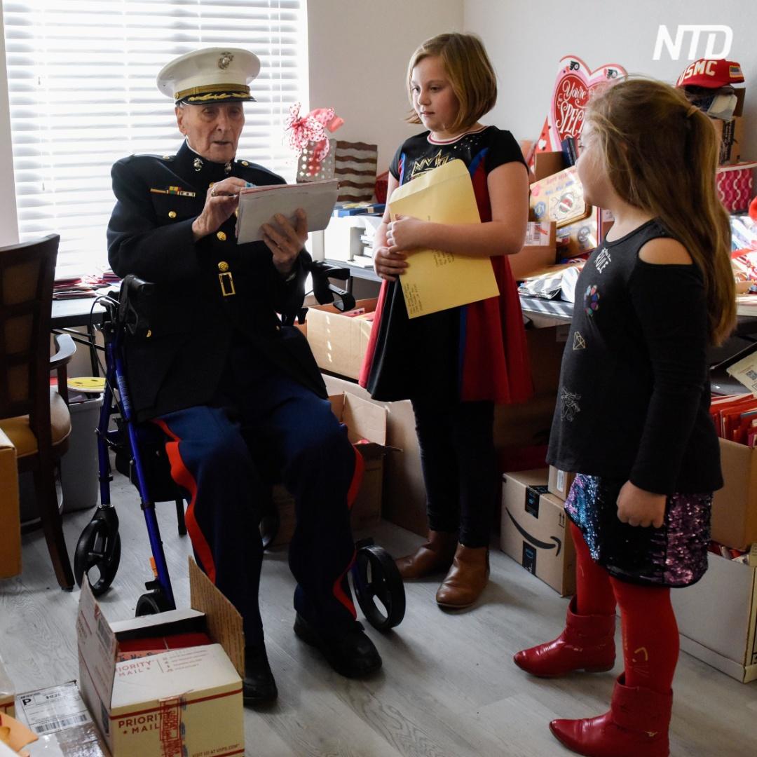 104-летнему ветерану прислали 70 тыс. писем ко Дню святого Валентина