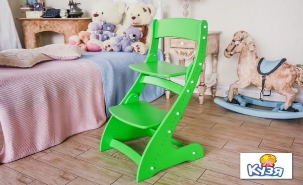 Растущий стул Павлин - Зеленый, Деревянный, 49x47x85