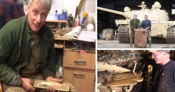 Мужчина обнаружил в боевом танке золото на сумму $2,4 млн