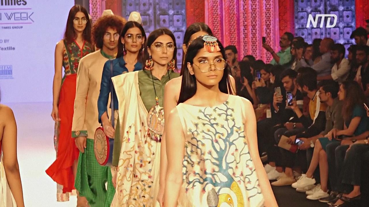Неделя моды в Мумбаи: натуральные ткани и переработанные материалы