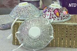 В Иордании дизайнер делает маски со стразами для защиты от коронавируса