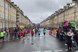 Более 6000 бегунов поучаствовали в полумарафоне на западе Англии