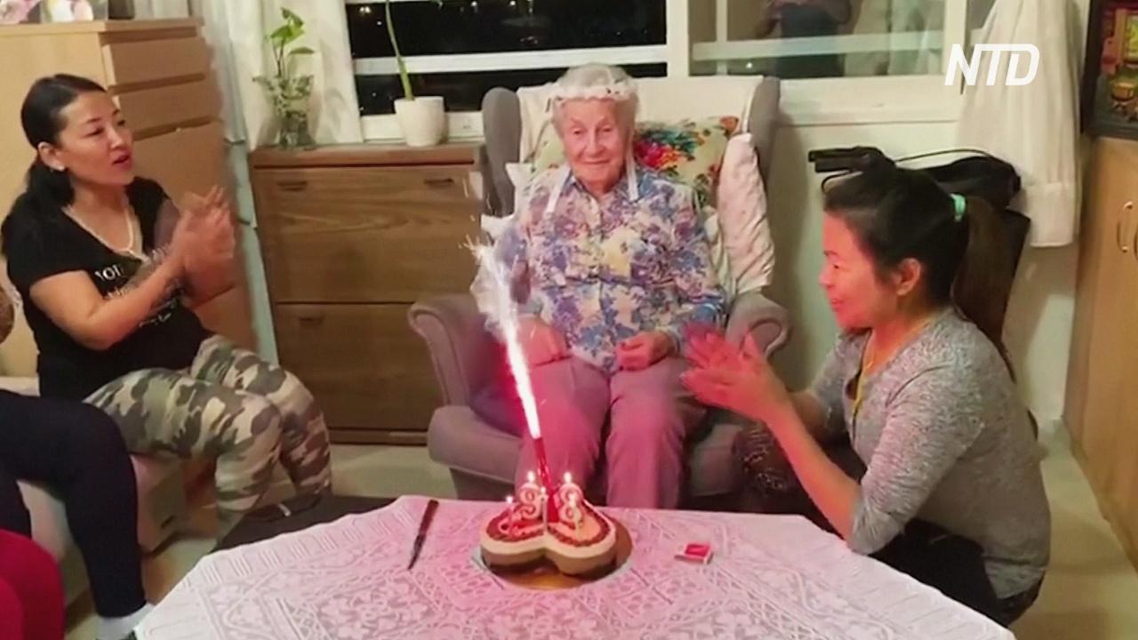 Израильтянка из-за эпидемии встретила 97-летие без родных, но не унывает