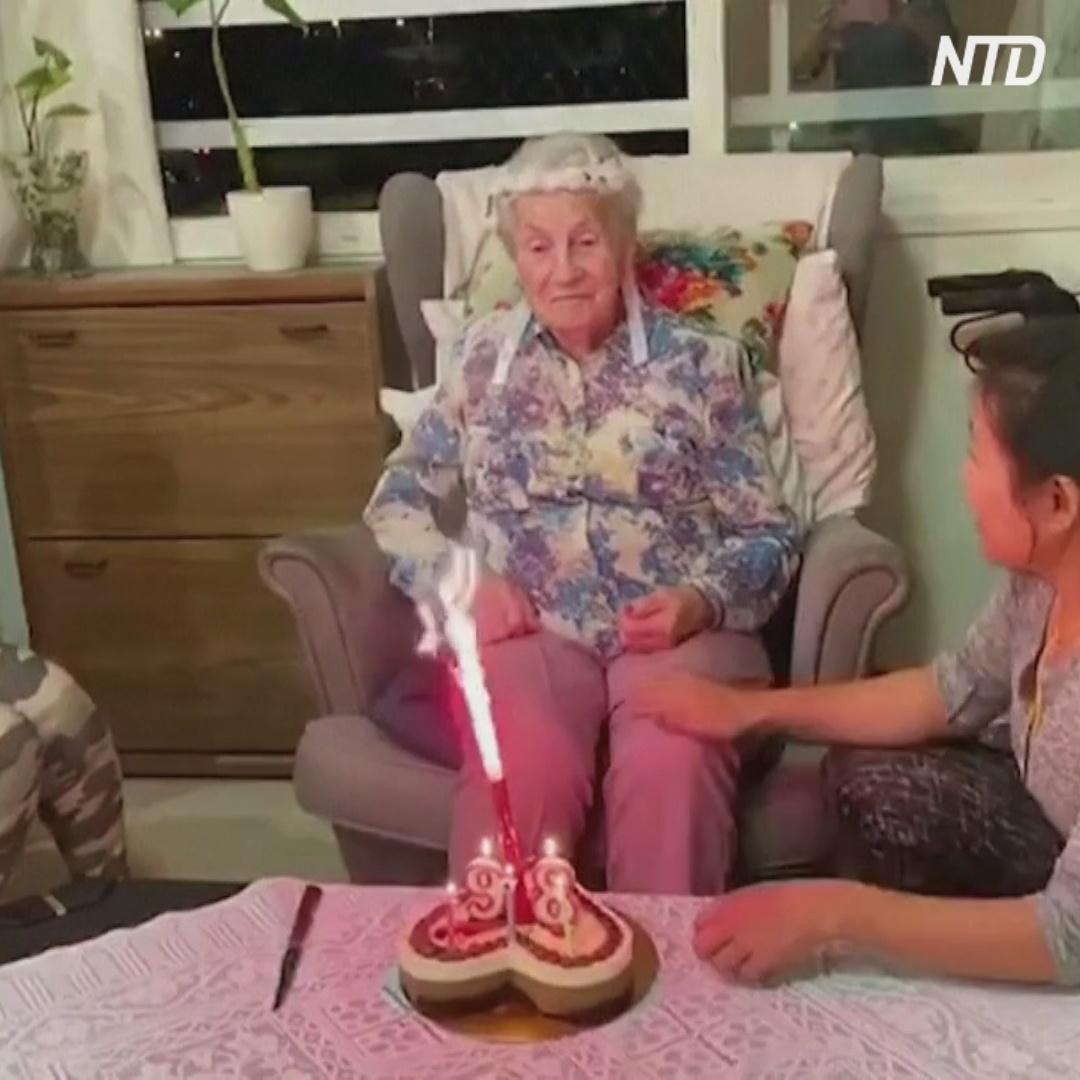 Израильтянка отметила 97-летие без родных из-за коронавируса, но не унывает