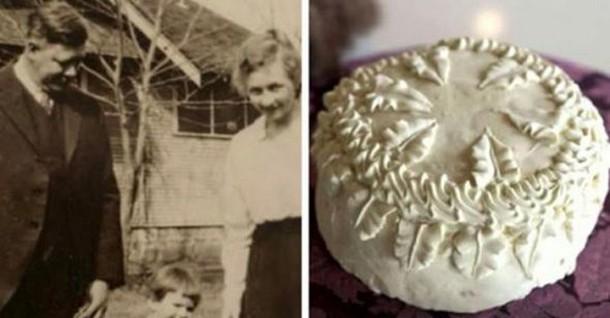 100-летний свадебный торт нашли в гараже