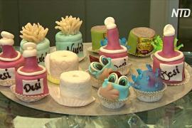 Коронавирус, антисептик и маска: пирожные во время эпидемии