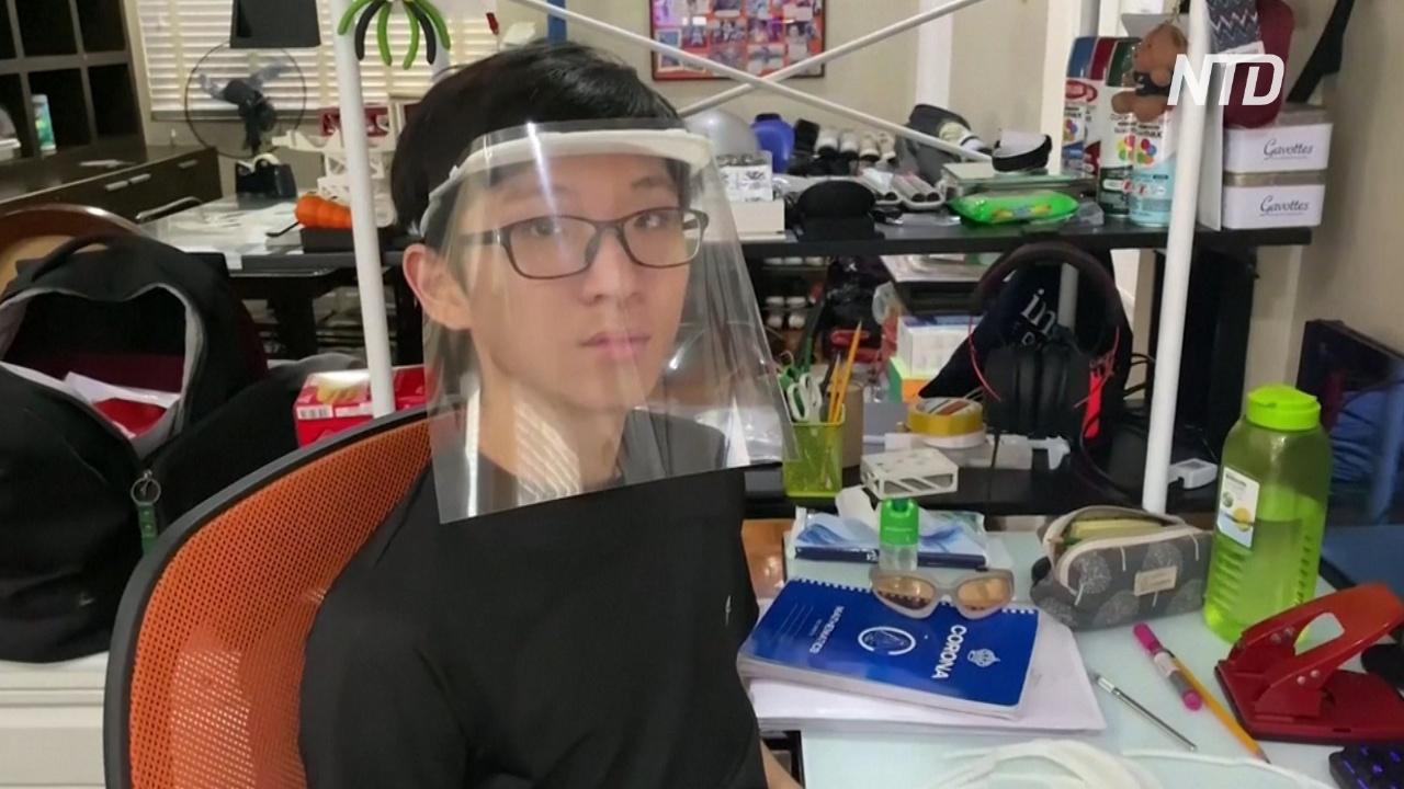 Юный филиппинец делает 3D-печатные щитки для лица для медиков