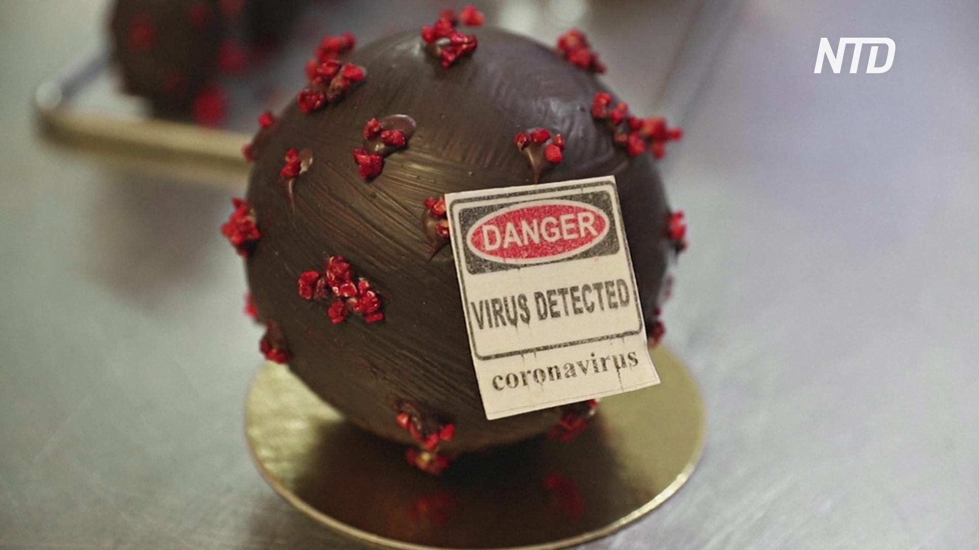 Французский шоколатье делает пасхальные яйца в виде коронавируса