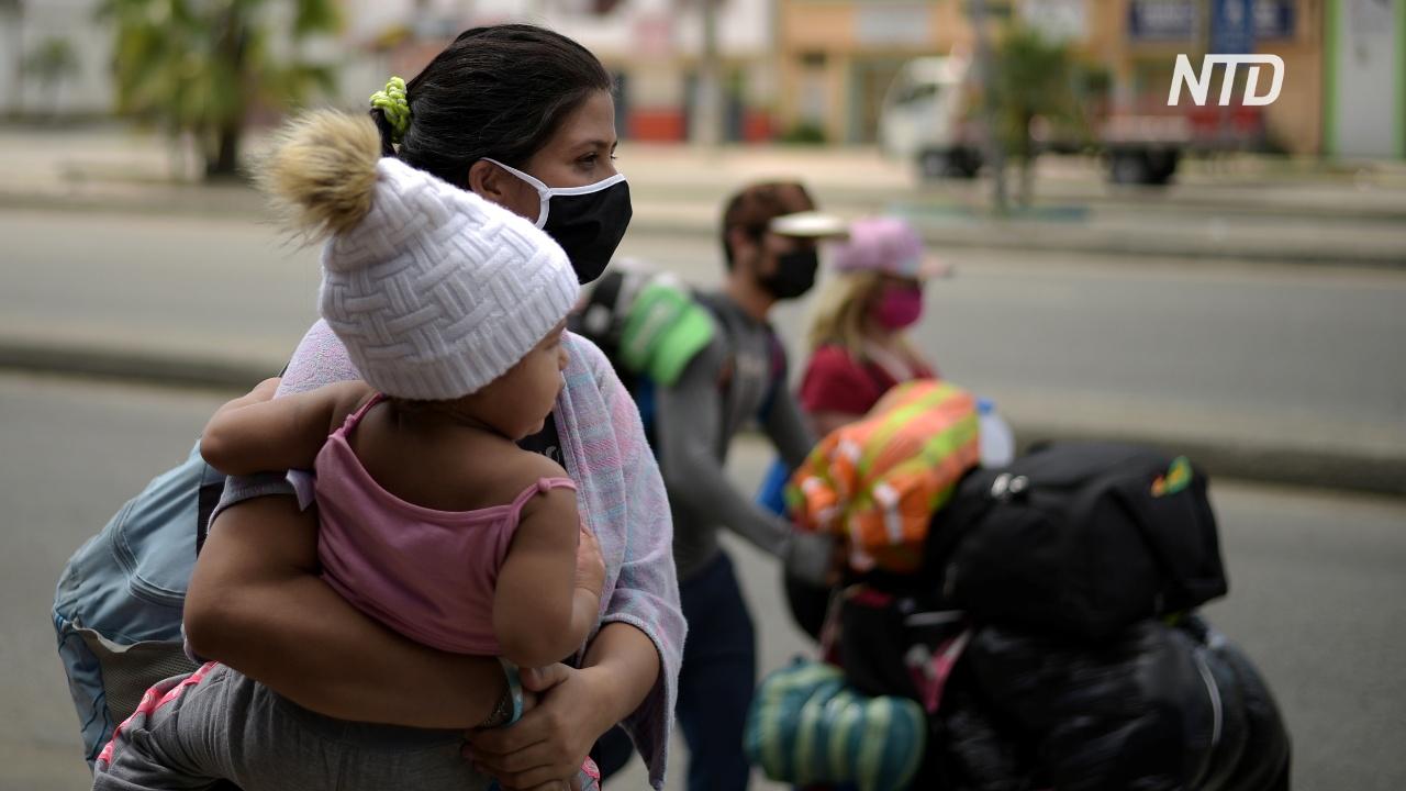 Венесуэльские мигранты бегут из Эквадора на родину и в другие страны региона