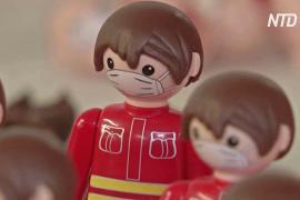 Чешских игрушечных человечков одели в маски