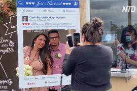 Пара поженилась на парковке вместо Гавайев