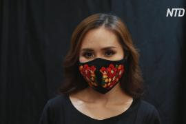 Безопасно и модно: дизайнер украшает маски вьетнамской вышивкой