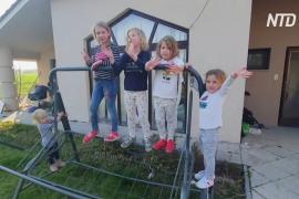 Венгерская семья с десятью детьми сидит на карантине