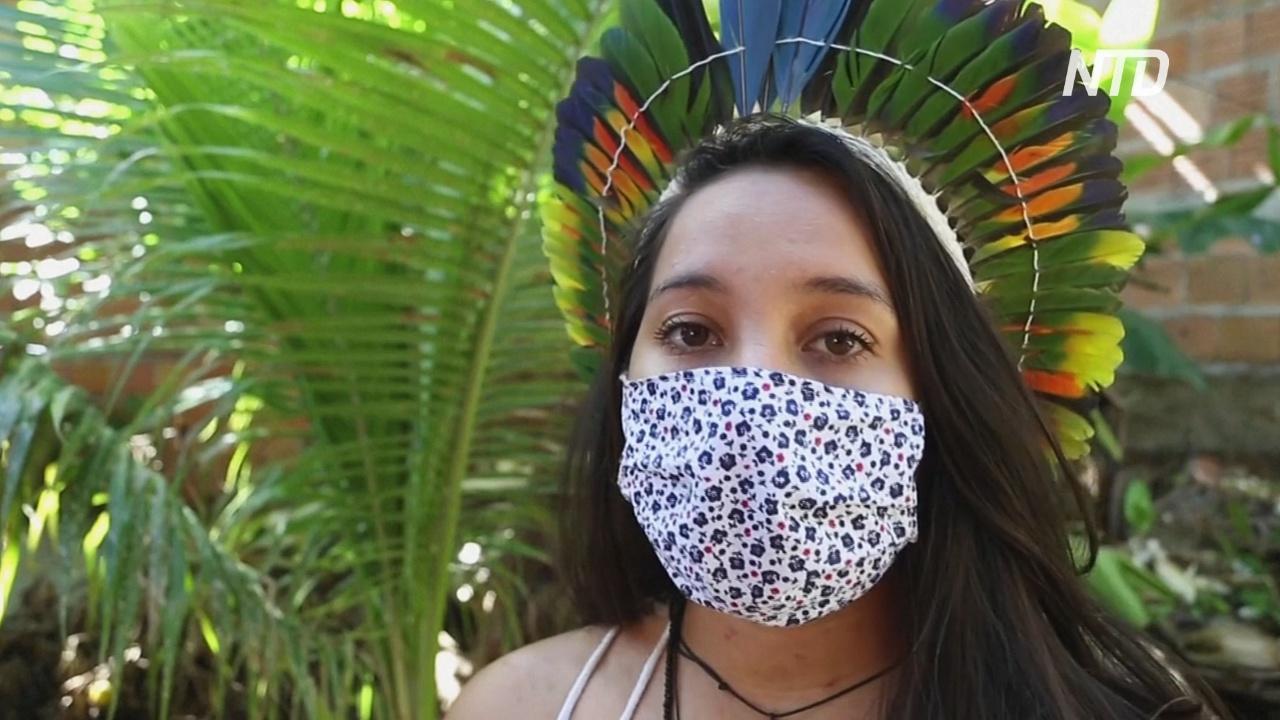 Маски вместо украшений: бразильские аборигены нашли работу на время карантина