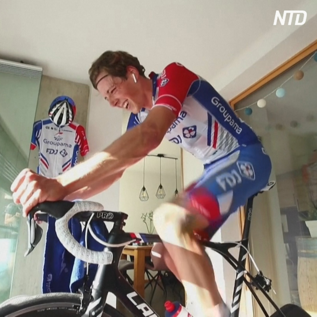Велогонка «Тур Швейцарии» прошла онлайн на велотренажёрах