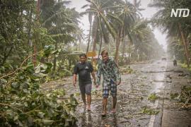 По Филиппинам ударил тайфун «Вонфон»