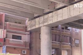 50 см от балкона: в Гизе строят эстакаду вплотную к жилым домам