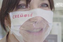 Итальянцы делают прозрачные маски, чтобы было видно улыбку