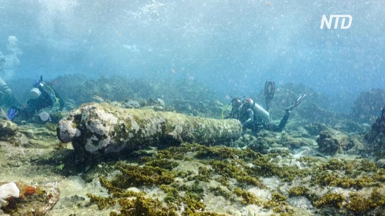 У карибского побережья Мексики нашли останки 200-летнего корабля