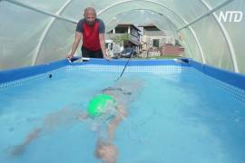 Бассейн в теплице: как боснийская чемпионка тренируется на карантине