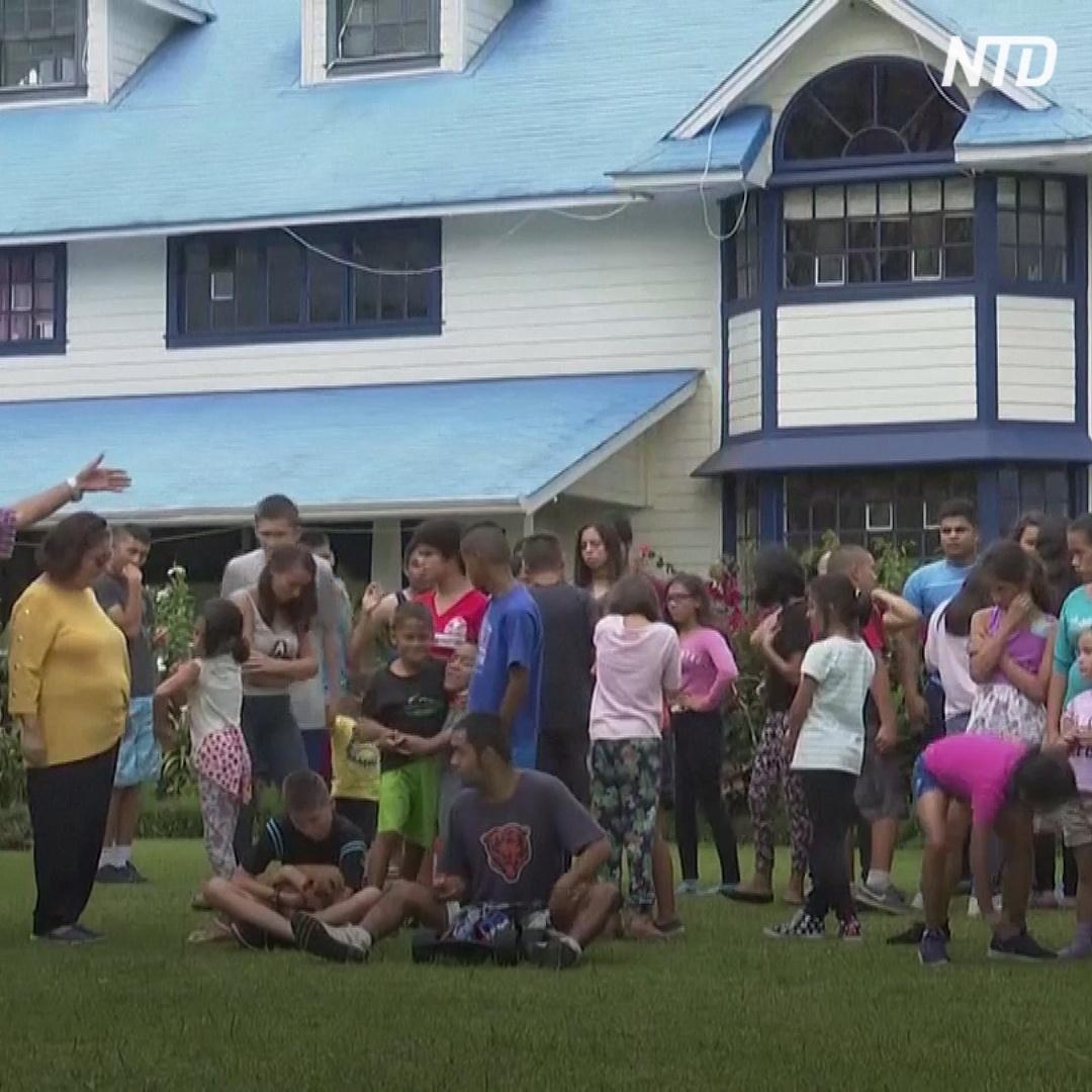 Семья с 31 ребёнком проводит время в изоляции