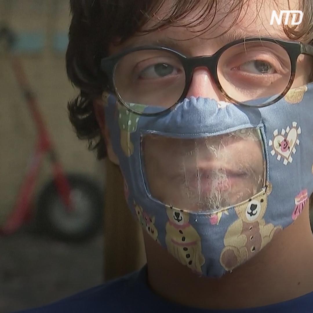 Глухие в Бельгии призывают делать прозрачные маски