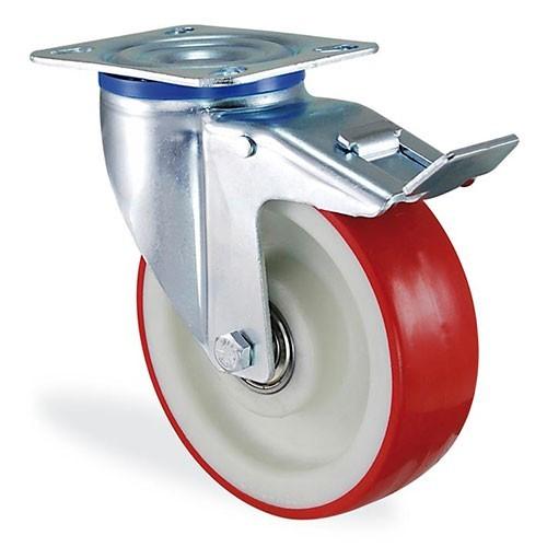 Колесо поворотное полиамид/полиуретан с крепежной панелью (Standart)