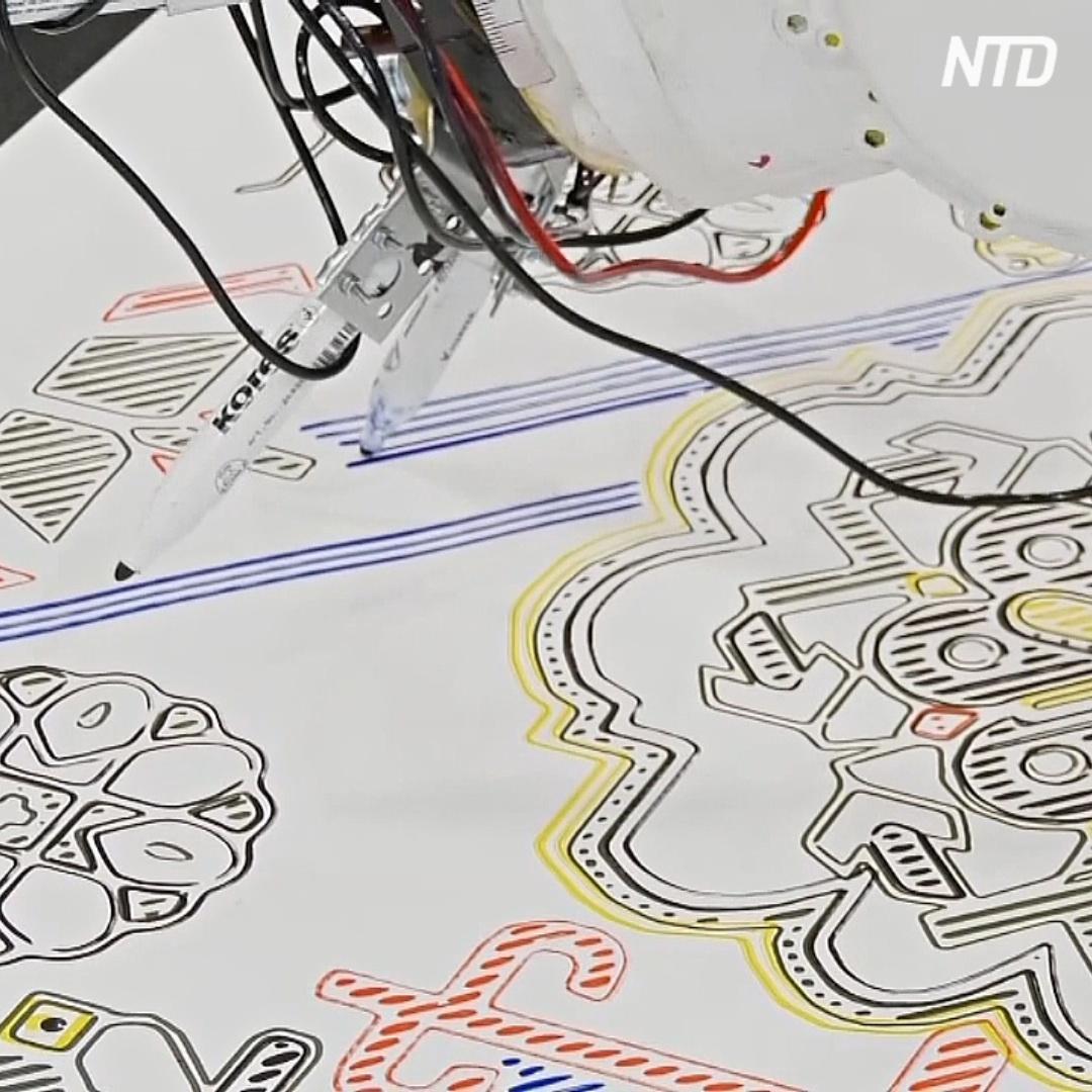 Робот, собиравший автомобили, теперь рисует древнерусские орнаменты